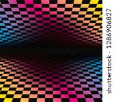 colored grids background... | Shutterstock .eps vector #1286906827