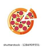 pizza slice vector  pizzeria... | Shutterstock .eps vector #1286909551