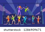 music singers performing in... | Shutterstock .eps vector #1286909671
