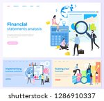 financial statements analysis... | Shutterstock .eps vector #1286910337