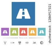 road flat white icons in square ... | Shutterstock .eps vector #1286917321