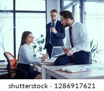 beautiful business people are... | Shutterstock . vector #1286917621