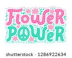 flower power hand drawn... | Shutterstock .eps vector #1286922634