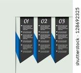 vector web template   banners ... | Shutterstock .eps vector #128692325