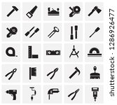 tools icons set on squares... | Shutterstock .eps vector #1286926477