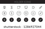 holder icons set. collection of ... | Shutterstock .eps vector #1286927044