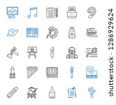artistic icons set. collection... | Shutterstock .eps vector #1286929624