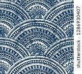 japanese seigaiha wave pattern. ... | Shutterstock .eps vector #1286930407