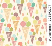Ice Cream Cones Seamless...