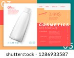 vector 3d realistic cosmetic... | Shutterstock .eps vector #1286933587
