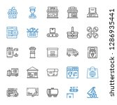 delivery icons set. collection... | Shutterstock .eps vector #1286935441