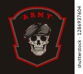 millitary skull army vector | Shutterstock .eps vector #1286937604