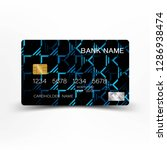 illustration credit card design....   Shutterstock .eps vector #1286938474