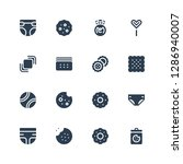 realistic icon set. collection... | Shutterstock .eps vector #1286940007
