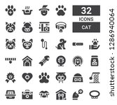 cat icon set. collection of 32... | Shutterstock .eps vector #1286940064