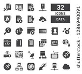 data icon set. collection of 32 ... | Shutterstock .eps vector #1286940091
