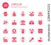 circus icon set. collection of...   Shutterstock .eps vector #1286942221