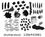 set of black watercolor stain.... | Shutterstock . vector #1286942881