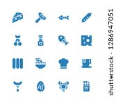 gourmet icon set. collection of ... | Shutterstock .eps vector #1286947051