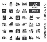 cargo icon set. collection of... | Shutterstock .eps vector #1286947177