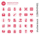 medication icon set. collection ... | Shutterstock .eps vector #1286949481
