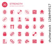 strength icon set. collection... | Shutterstock .eps vector #1286949517