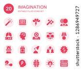 imagination icon set....   Shutterstock .eps vector #1286949727