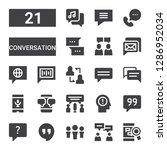conversation icon set....