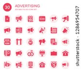 advertising icon set.... | Shutterstock .eps vector #1286954707