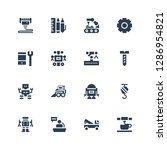 machinery icon set. collection... | Shutterstock .eps vector #1286954821