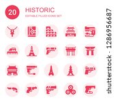 historic icon set. collection... | Shutterstock .eps vector #1286956687