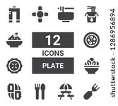 plate icon set. collection of... | Shutterstock .eps vector #1286956894