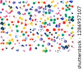 watercolor confetti on white... | Shutterstock .eps vector #1286957107