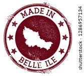 made in belle ile stamp. grunge ... | Shutterstock .eps vector #1286957134
