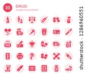drug icon set. collection of 30 ... | Shutterstock .eps vector #1286960551