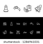 delivery icon set and yacht... | Shutterstock .eps vector #1286961031