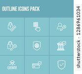 protection icon set and global...