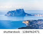 panoramic view of ifach rock... | Shutterstock . vector #1286962471