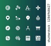 destination icon set.... | Shutterstock .eps vector #1286968627