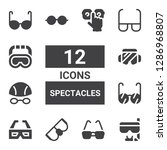 spectacles icon set. collection ... | Shutterstock .eps vector #1286968807