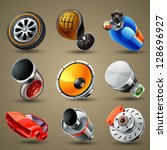 car parts and services icons | Shutterstock .eps vector #128696927