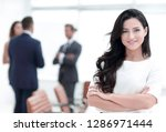 closeup. executive woman in the ... | Shutterstock . vector #1286971444