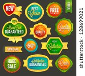 set of badges and labels | Shutterstock .eps vector #128699021
