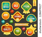 set of badges and stickers | Shutterstock .eps vector #128699027