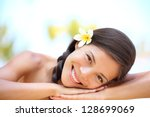 woman natural beauty. beautiful ...   Shutterstock . vector #128699069