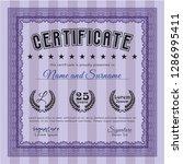violet certificate. money... | Shutterstock .eps vector #1286995411