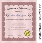 red classic certificate... | Shutterstock .eps vector #1286995444