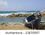 Wooden Fishing Boat On The...