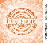 indigenous abstract orange... | Shutterstock .eps vector #1287028237
