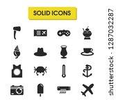 season icons set with air...